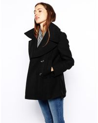 ASOS | Black Pea Coat | Lyst