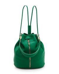 Elizabeth and James - Cynnie Leather Satchel Bag Green - Lyst