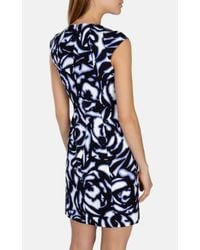 Karen Millen - Multicolor Graphic Floral Dress - Lyst