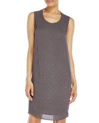 Transit - Gray Tank Dress - Lyst