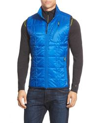 Smartwool | Blue 'corbet 120' Quilted Zip Front Vest for Men | Lyst