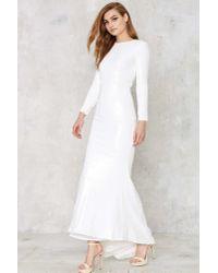 Line & Dot - White Royale Sequin Maxi Dress - Lyst