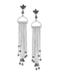 Coomi - Metallic Spring Sterling Silver Earrings With Diamond Stick Design - Lyst