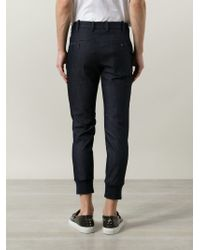 Neil Barrett - Blue Tapered Denim Trousers for Men - Lyst