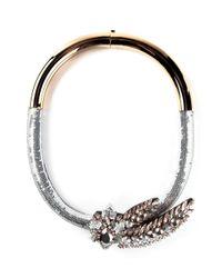 Shourouk - Metallic 'Aigrette Comet' Necklace - Lyst