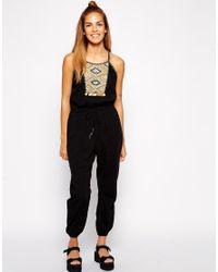 d0bd49f754d7 Lyst - Greylin Anya Jumpsuit in Black