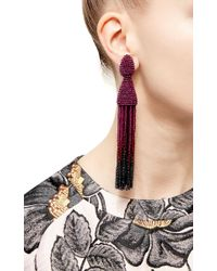 Oscar de la Renta | Purple Ombré Tassel Earrings | Lyst