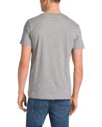 BOSS Orange - Gray Cotton T-shirt 'tripolo 3' for Men - Lyst