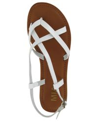 MIA - White Cruise Flat Sandals - Lyst