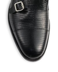 DSquared² - Black Double Buckle Ankle Boots for Men - Lyst