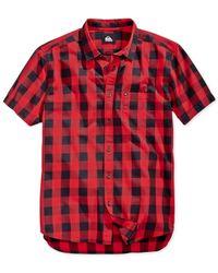 Quiksilver | Red Short-sleeve Romsey Shirt for Men | Lyst