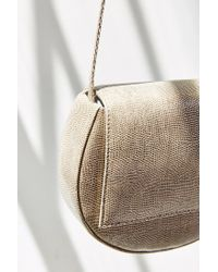 Silence + Noise | Natural Structured Moon Crossbody Bag | Lyst