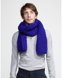 Wool And The Gang | Purple Whistler Scarf for Men | Lyst