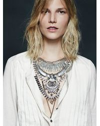 Free People | Metallic Noir Womens Atlantis Statement Collar | Lyst