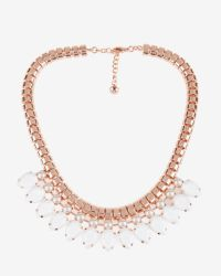 Ted Baker - White Teardrop Crystal Necklace - Lyst