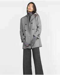 Zara | Gray Hand Made Coat | Lyst