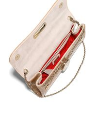 Christian Louboutin - Pink Riviera Patent Leather Clutch - Lyst