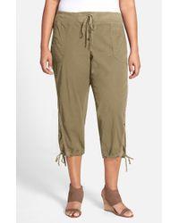 XCVI - Green Xcvi Drawstring Tie Capri Pants - Lyst
