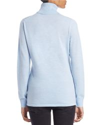 Lord & Taylor | Blue Fine Merino Wool Turtleneck Sweater | Lyst