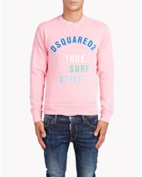 DSquared² | Pink Dean Fit Sweatshirt for Men | Lyst