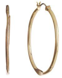Nine West | Metallic Classic Gold Hoop Earrings | Lyst