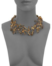 Alexander McQueen - Red Cherry Blossom Choker Necklace - Lyst