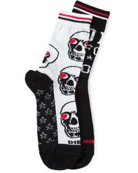 DIESEL - White Skm-Ray Socks for Men - Lyst