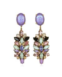 Erickson Beamon | Metallic Cosmic Code Earrings | Lyst