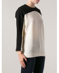 Studio Nicholson - White Contrast Panel Shell Top - Lyst