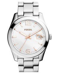 Fossil - Metallic Perfect Boyfriend Bracelet Watch - Lyst