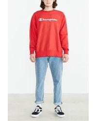 Champion | Red Reverse Weave Sweatshirt for Men | Lyst