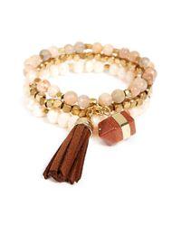 Panacea | Natural Stone & Bead Multistrand Bracelet | Lyst