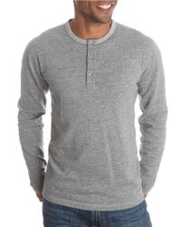 Lucky Brand | Gray Duofold Henley for Men | Lyst