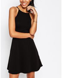 ASOS - Purple 90's Skater Dress With High Neck - Lyst