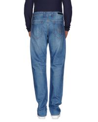 Love Moschino | Blue Denim Trousers for Men | Lyst