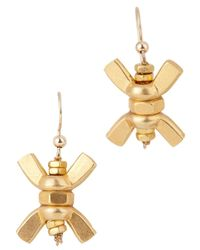 Alice Menter | Metallic Minnie Wings Gold Plated Earrings | Lyst