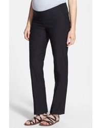 Japanese Weekend | Black 'office' Straight Leg Maternity Pants | Lyst