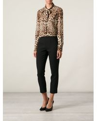 Dolce & Gabbana - Black Cropped Trousers - Lyst
