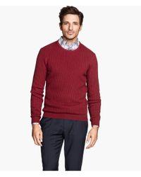 H&M - Red Jumper In Premium Cotton for Men - Lyst