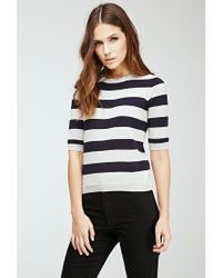 Forever 21 | Black Rugby Striped Sweater | Lyst
