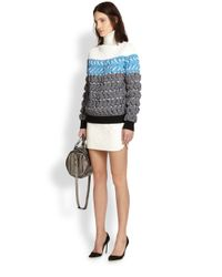 Alexander Wang - Natural Paisley Quilted Leather Skirt - Lyst