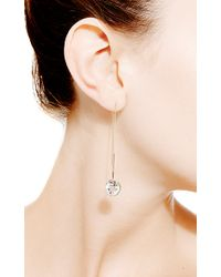 Janis Savitt | Metallic Crystal Quartz Thread Earrings | Lyst