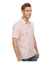 Perry Ellis | Pink Short Sleeve Plaid Pattern Shirt for Men | Lyst