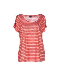 Armani Jeans - Red T-shirt - Lyst