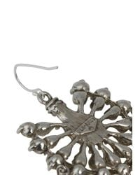 Ben-Amun - Metallic Silver Tone Swarovski Crystal And Pearl Embellished Drop Earrings - Lyst