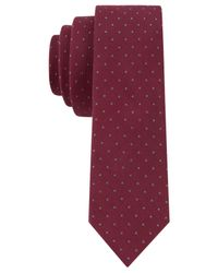 Calvin Klein | Purple Liquid Luxe Pindot Skinny Tie for Men | Lyst