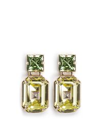 Valentino | Metallic Bi-colour Rhinestone Earrings | Lyst