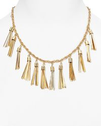 BaubleBar | Metallic Tassel Strand Necklace, 16"