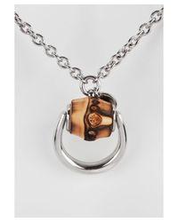 Gucci | Metallic Women's Horsebit Bamboo Sterling Silver Necklace | Lyst