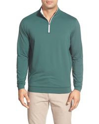 Peter Millar | Green 'perth' Quarter Zip Terry Performance Pullover for Men | Lyst